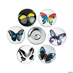 Large Butterfly Snap Beads - 17mm