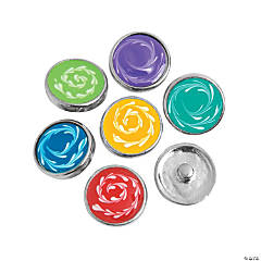 Large Cat's Eye Swirl Snap Beads - 20mm