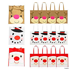 Large Cheery Christmas Totes
