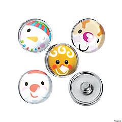 Large Christmas Character Snap Beads - 18mm