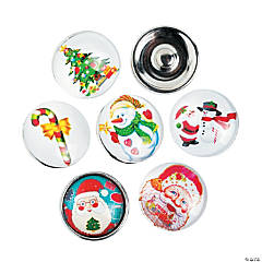 Large Christmas Snap Beads - 18 mm