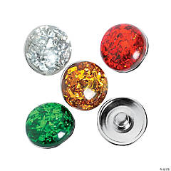 Large Christmas Snap Beads - 18mm