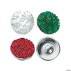 Large Christmas Sparkle Snap Beads