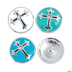 Large Cross Snap Beads - 20mm