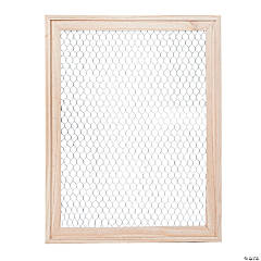 Large DIY Unfinished Wood Frame with Wire