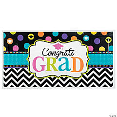 Large Dream Big Graduation Plastic Banner