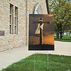 Large Easter Cross Scene Yard Sign