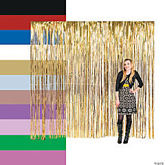 Large Foil Fringe Curtains