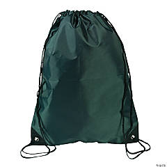 Large Forest Green Drawstring Bags