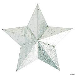 Large Galvanized Metal Star