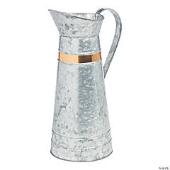 Large Galvanized Pitcher