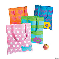 Large Glitter Accent Tote Bags