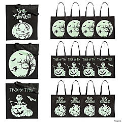 Large Glow-in-the-Dark Halloween Tote Bags