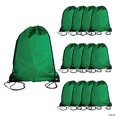 Large Green Drawstring Bags