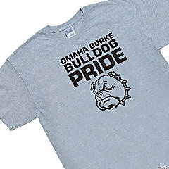 Large Grey Custom Photo Team Spirit T-Shirt - Pride