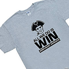 Large Grey Custom Photo Team Spirit T-Shirt - Win
