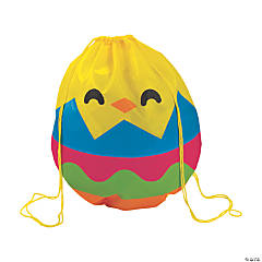 Large Hatching Egg Drawstring Bags