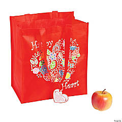 Large Healthy Heart Tote Bags