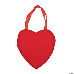 Large Heart-Shaped Canvas Tote Bags