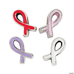 Large Hole Awareness Ribbon Beads - 10mm