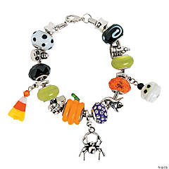 Large Hole Halloween Bracelet Idea