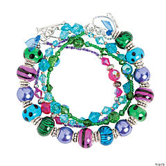 Large Hole Multi-Strand Bracelet Idea