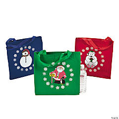 Large Holiday Tote Bags