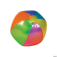 Large Inflatable Metallic Beach Balls - 12