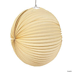Large Ivory Hanging Paper Lanterns