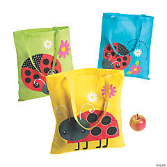Large Ladybug Tote Bags