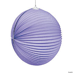 Large Lilac Hanging Paper Lanterns