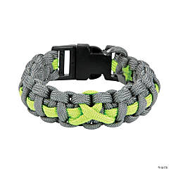 Large Lime Green Awareness Ribbon Paracord Bracelets