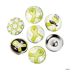 Large Lime Green Awareness Ribbon Snap Beads