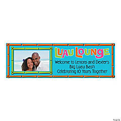 Large Luau Lounge Custom Photo Banner
