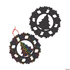 Large Magic Color Scratch Christmas Wreaths