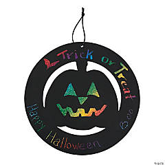Large Magic Color Scratch Halloween Wreath Ornaments