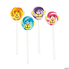 Large Monkey Swirl Lollipops