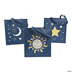 Large Mystic Print Tote Bags