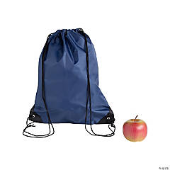 Large Navy Blue Drawstring Bags