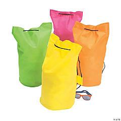 Large Neon Drawstring Bags