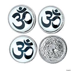 Large Om Symbol Snap Beads - 22mm