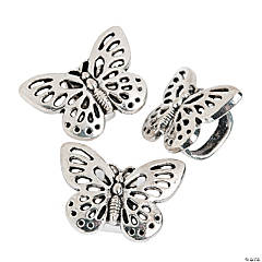 Large Open Wing Butterfly Slide Charms