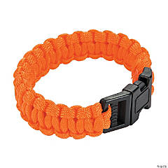 Large Orange Paracord Bracelets