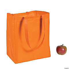 Large Orange Shopper Tote Bags