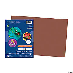 Large Pacon® Riverside® Construction Paper - Dark Brown