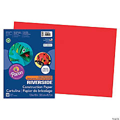 Large Pacon® Riverside® Construction Paper - Holiday Red