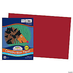 Large Pacon® Riverside® Construction Paper - Red
