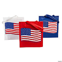 Large Patriotic Flag Tote Bags