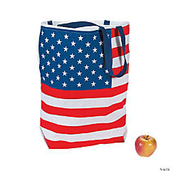 Large Patriotic USA Flag Tote Bag