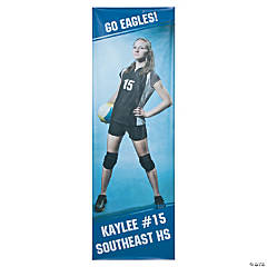 Large Personalized Team Spirit Vertical Photo Banner